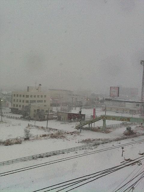 釧路地方、大雪です